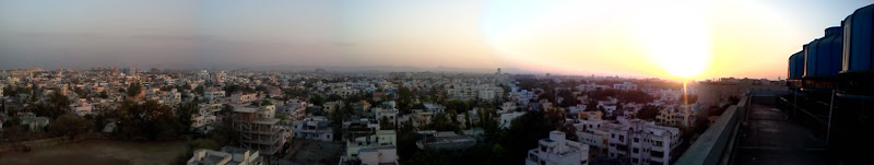 A view from terrace of my office building