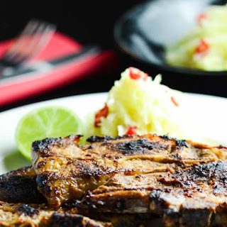 Thai Style Lamb Chops with Green Papaya Salad