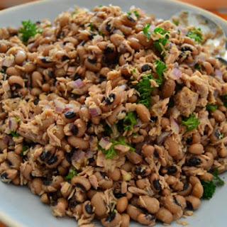 Tuna with Black Eyed Bean Salad – Salada de Feijão Frade com Atum.