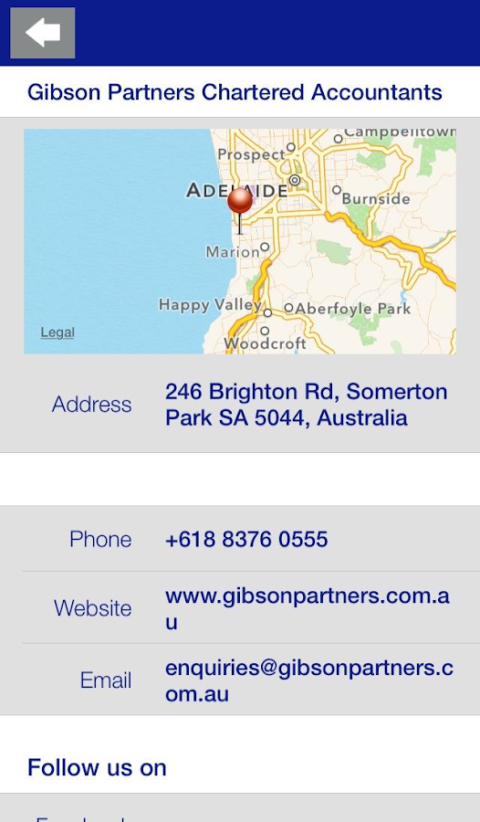 Gibson & Partners- screenshot