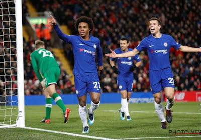 Willian sauve un point pour Chelsea à Anfield