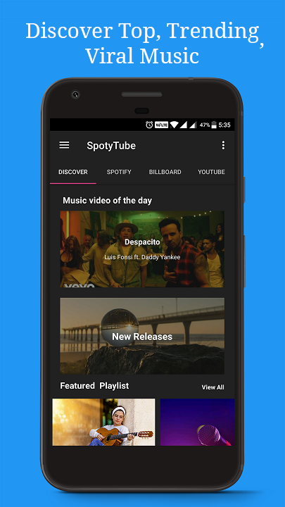 SpotyTube - Free Music (Spotify Billboard YouTube)- screenshot