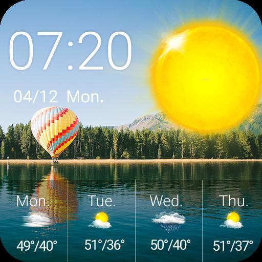 Weather Clock Widget Lake