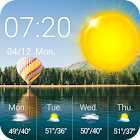 Weather Widget De Reloj Lago icon