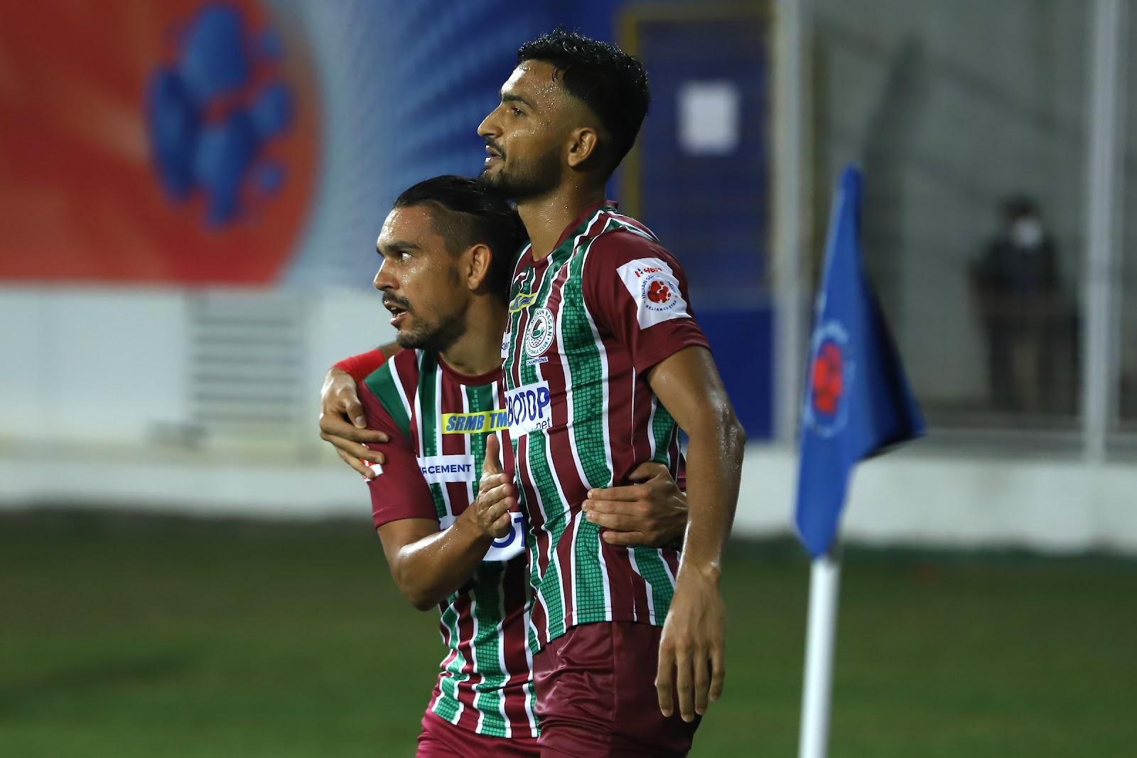 Manvir Singh celebrating his goal