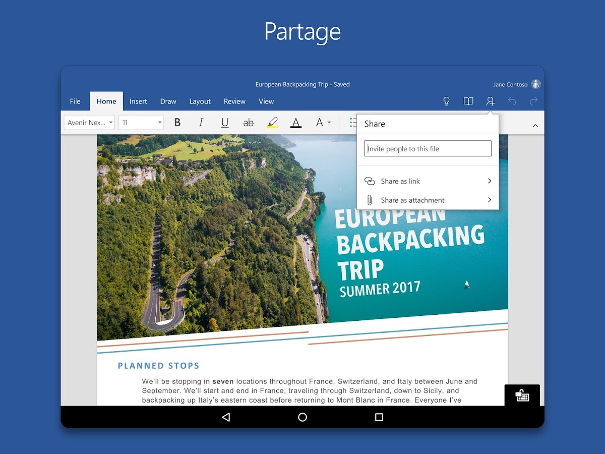 Microsoft Word – Capture d'écran
