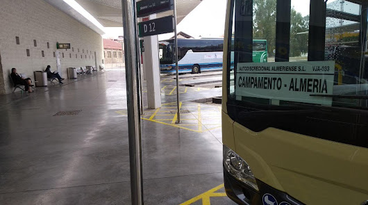 El número de viajeros del Consorcio de Almería baja en un 76% en marzo