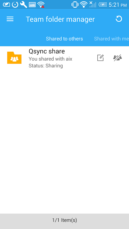 Qsync- screenshot