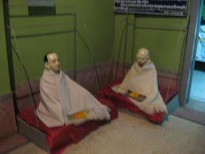 Photo: Murtis of Sri Premdas Brahmachari & Sri Kunjadas Brahmachari (l. to r.) - two direct associates of Prabhu Jagadbandhusundar