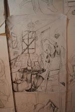 Photo: Vienas iš darbų studijoje.   One of the works in the studio.