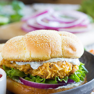 Spicy Chicken Sandwich with Cilantro Lime Mayo