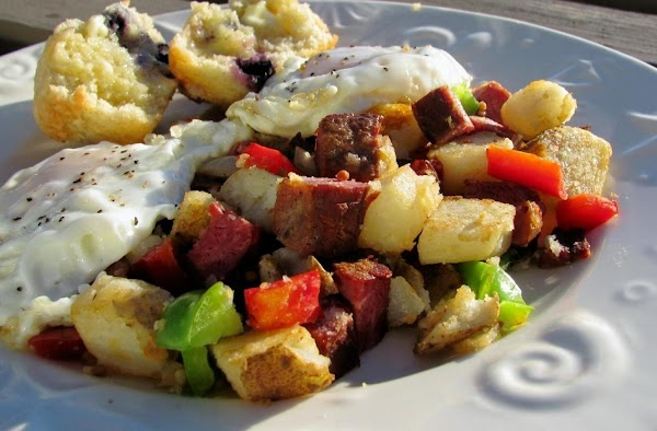 Corned Beef Hash With Poached Eggs Recipe