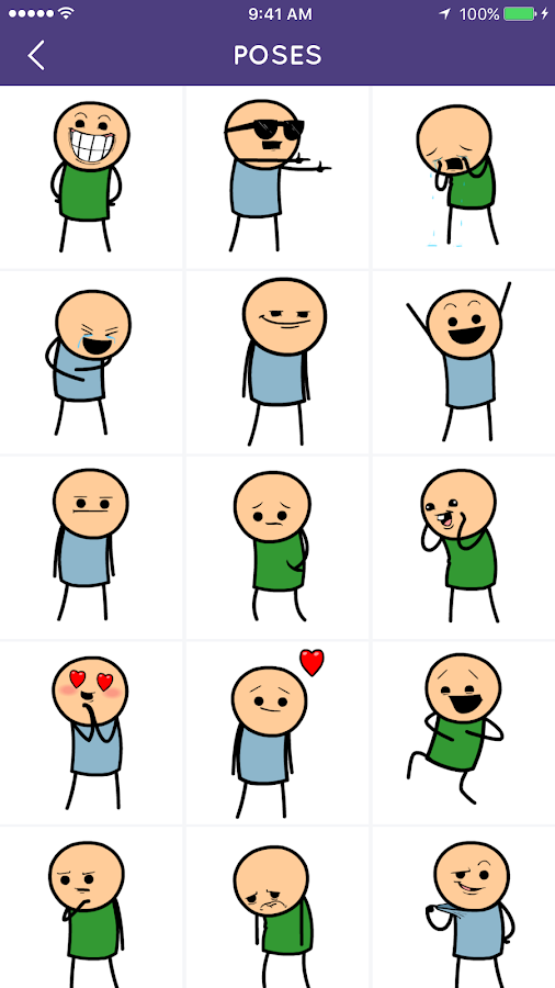 Cyanide and Happiness Emojis- screenshot