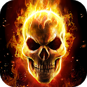 Flame Skull Live Wallpaper Themes icon
