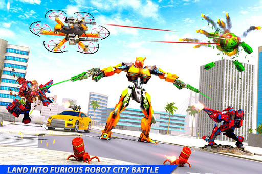 Drone Robot Car Transforming Game– Car Robot Games screenshots 2