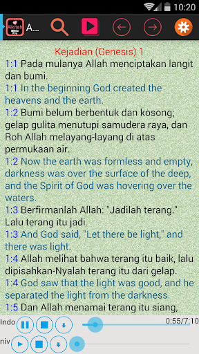 Indonesian English Audio Bible
