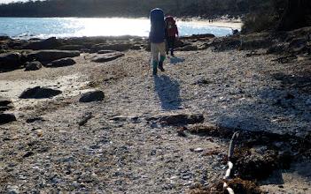 Photo: Walking on thousands of shells...