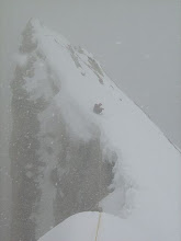 Photo: The ridge.. viewed back from the summit.. looked horrible