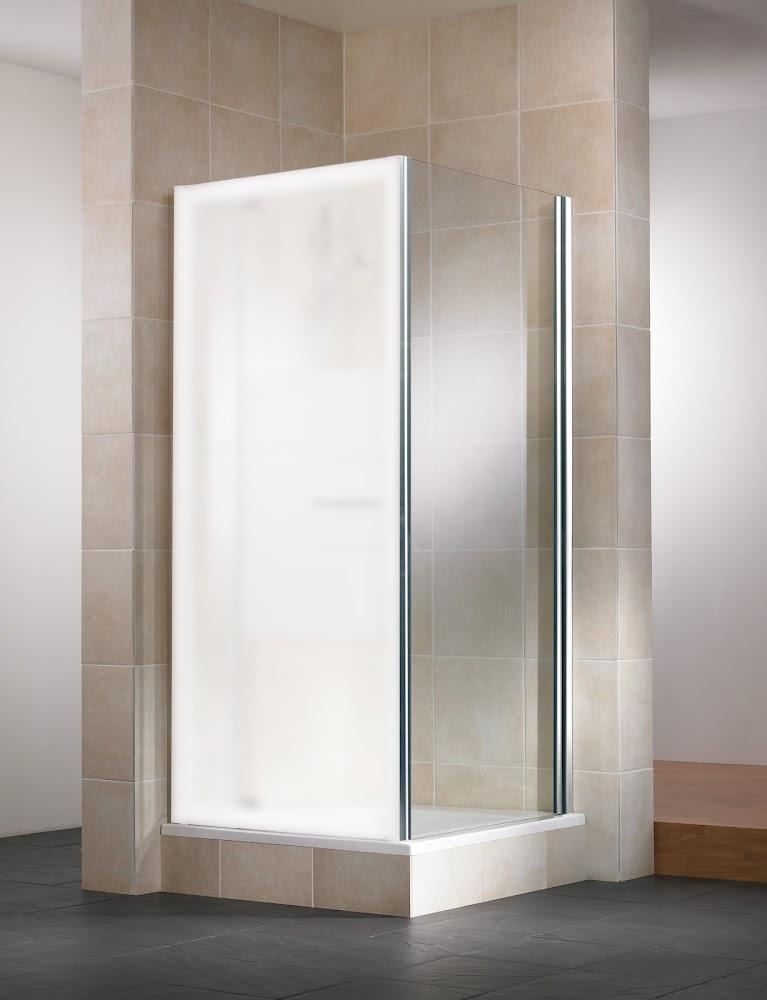 imperiale paroi laterale pour porte de douche pivotante vita 80 cm verre transparent aspect chrome