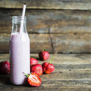 Strawberry-Almond-Coconut Smoothie.