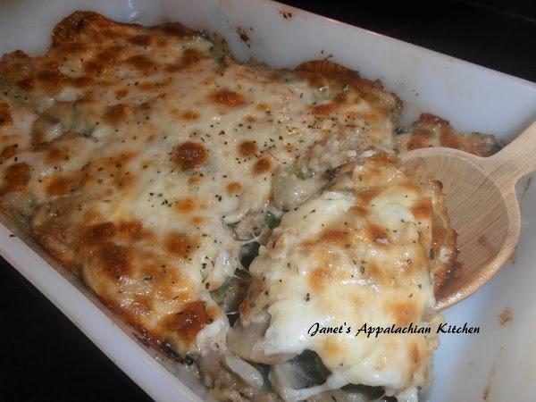 Three Cheese Mushroom Bake Recipe