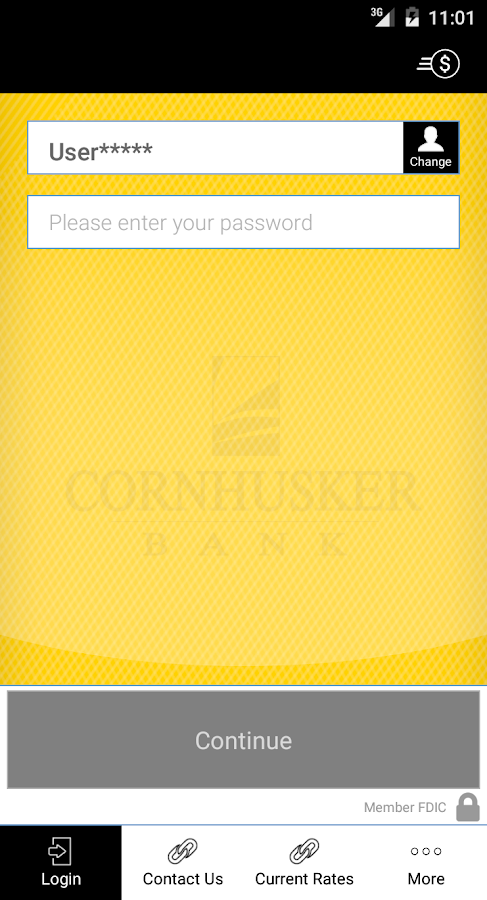 Cornhusker Bank Mobile Banking- screenshot