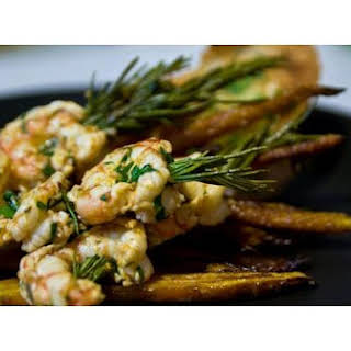 Rosemary-Skewered Shrimp.