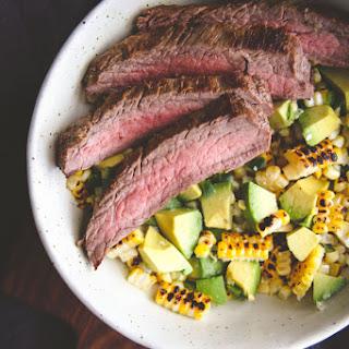 5 Ingredient Flank Steak Charred Corn Salad.