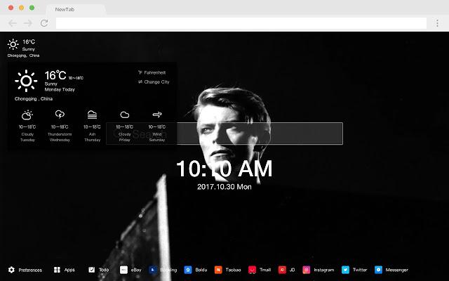 Rock pop star HD wallpaper new tab page theme
