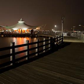jetty by Hatdy Tridjaja - Buildings & Architecture Bridges & Suspended Structures ( le bridge, ancol, indonesia, jakarta, jembatan, night )