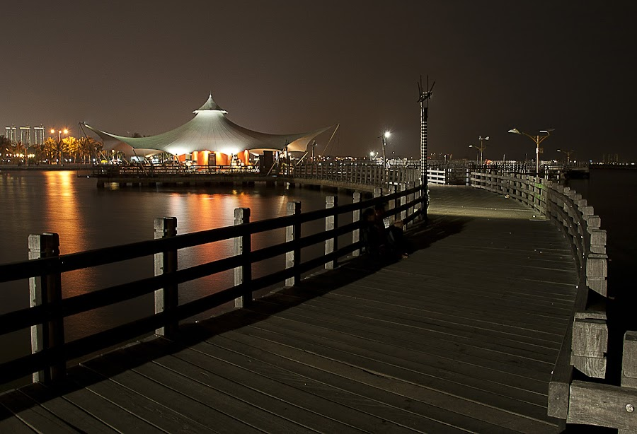 jetty by Hatdy Tridjaja - Buildings & Architecture Bridges & Suspended Structures ( le bridge, ancol, indonesia, jakarta, jembatan, night )