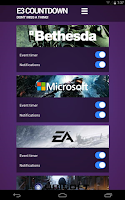 Screenshot of E3 Countdown