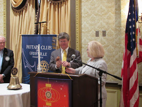 Photo: The Passing of the Gavel from President Judith Prince to President-Elect Russell Stall
