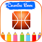 Basketball 3D Logo Coloring icon