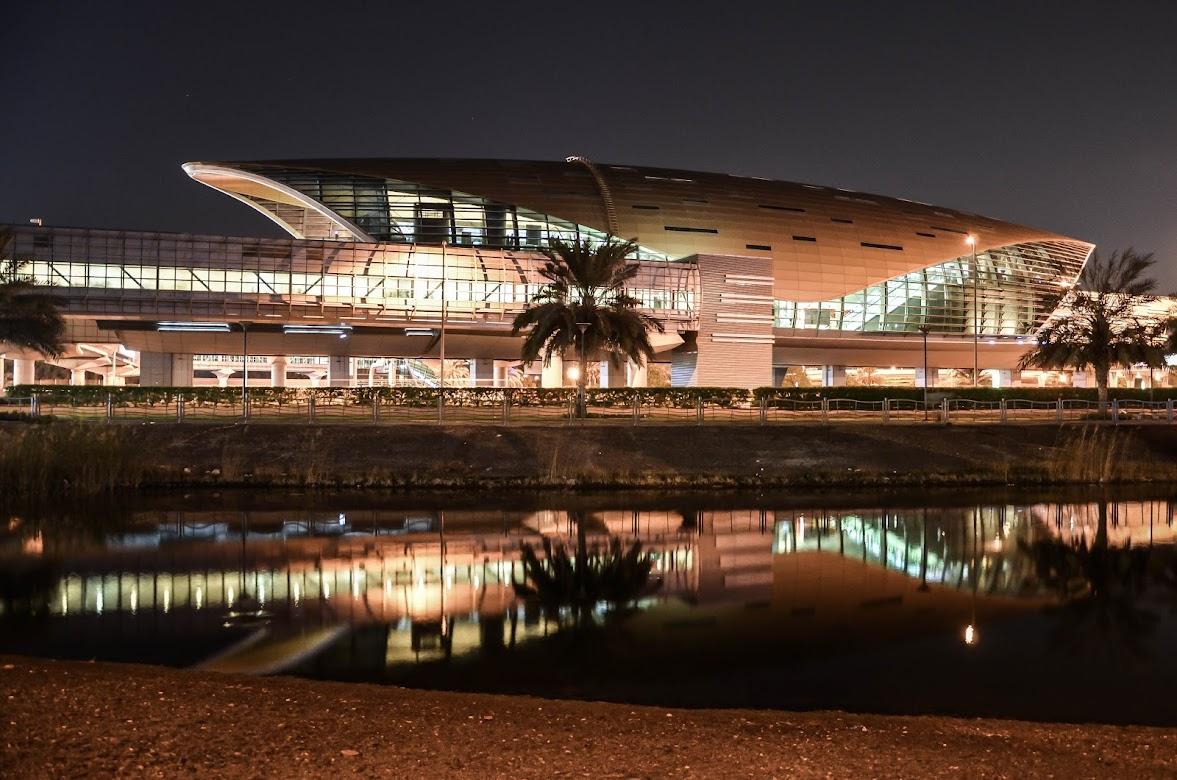 Ночной Дубаи, ОАЭ