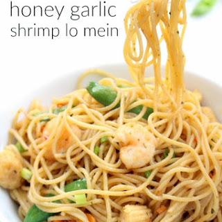 Honey Garlic Shrimp Lo Mein