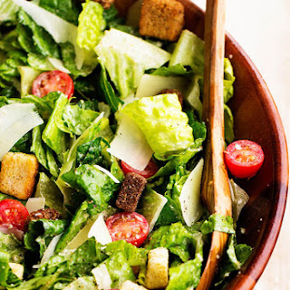 Classic Caesar Salad with Asiago Caesar Dressing.