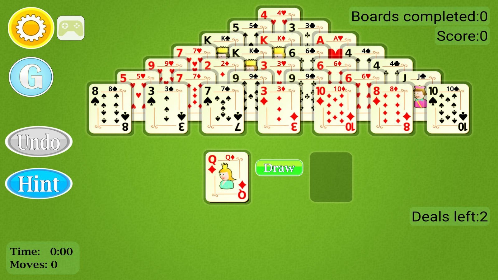 Pyramid Solitaire Mobile- screenshot