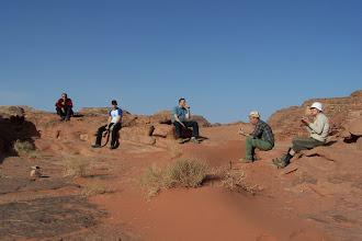 Photo: śniadanko na Pustyni Wadi Rum