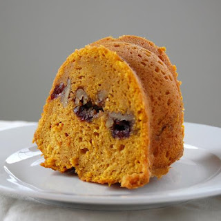 Sweet Potato Pound Cake with Cranberry Walnut Streusel
