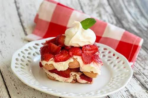"Strawberry Tiramisu""I created this recipe because I wanted to do something different..."