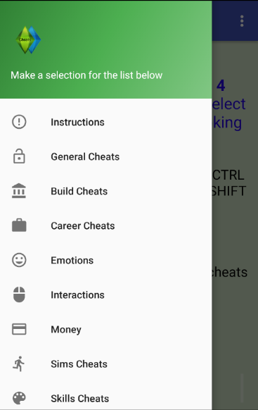 more cheats for the sims 4 android apps on google play. Black Bedroom Furniture Sets. Home Design Ideas