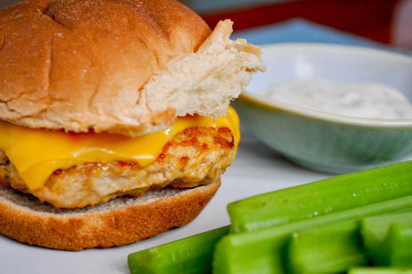 Buffalo Chicken Burgers Recipe