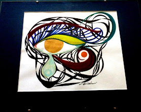 Photo: 026 (View A) CLEANSING ~ ОЧИЩЕННЯ Luba Bilash original ~ ink matted & float-framed $120