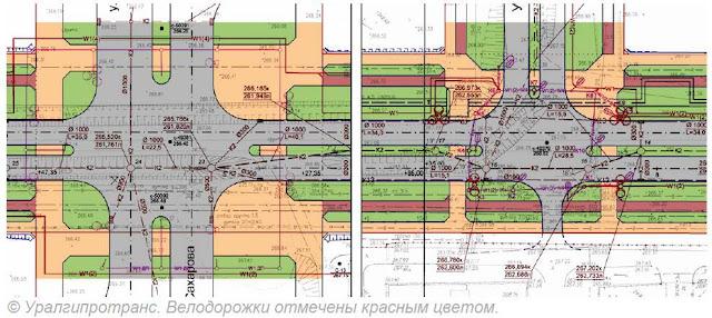 схема план велодорожек