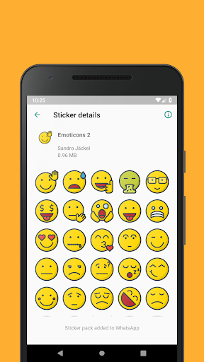 Emoticons Sticker Pack for WhatsApp 0.2.10 screenshots 3