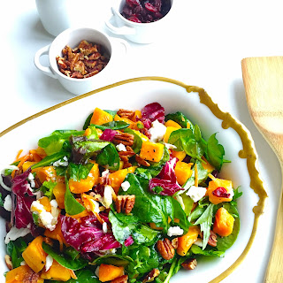 Butternut Squash Salad With Cranberries + Goat Cheese