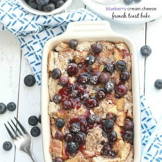 Overnight Blueberry Cream Cheese French Toast.