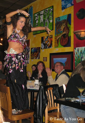 Belly Dancer at Cafe Tu Tu Tango in Orlando, FL - Photo by Taste As You Go