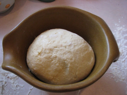 First Rise of Challah Dough - Photo Courtesy of Hillary Kwiatek